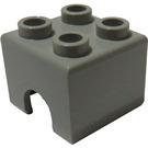 LEGO Light Gray Technic Piston 2 x 2 Block (3652)