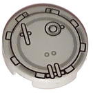 "LEGO Light Gray Tile 2 x 2 Round with Round Hatch with ""X"" Bottom"