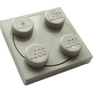 LEGO Light Gray Turntable 2 x 2 Plate with Light Gray Top