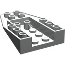 LEGO Light Gray Wedge 6 x 4 Inverted with 2 Stud Connections (4856)
