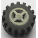 LEGO Wheel Rim Ø8 x 6.4 without Side Notch with Small Tire with Offset Tread (without Band Around Center of Tread) (73420)