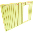 LEGO Light Lime Scala Wall 40 x 2 x 22 2/3 with Door with Decoration with Hearts Sticker