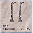 LEGO Light Masts Pack of four Set 233