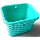 LEGO Light Turquoise Wicker Basket (33081)