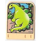 LEGO Jaune clair Explore Story Builder Meet the Dinosaur story card with light green dinosaur pattern