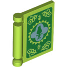 LEGO Lime Book Cover with Decoration (67081)