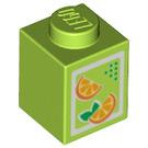 LEGO Lime Brick 1 x 1 Juice Carton (95666)
