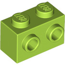 LEGO Lime Brick 1 x 2 with Studs on One Side (11211)