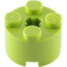 LEGO Lime Brick 2 x 2 Round (6143)