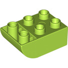 LEGO Lime Brick 2 x 3 with Inverted Bow (98252)