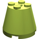 LEGO Lime Cone 3 x 3 x 2 with Axle Hole
