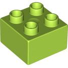 LEGO Lime Duplo Brick 2 x 2 (3437)