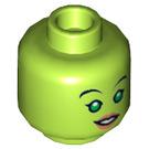 LEGO Lime Hera Syndulla Plain Head (Safety Stud) (18458)