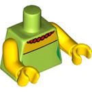 LEGO Lime Marge Simpson Minifig Torso (76382 / 88585)