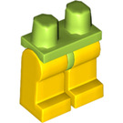 LEGO Lime Minifigure Hips with Yellow Legs (88584)