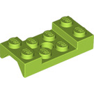 LEGO Lime Mudguard 2 x 4 with Arch Studded with Hole (60212)
