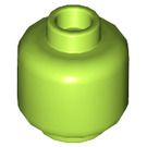 LEGO Lime Plain Head (Recessed Solid Stud) (3626)