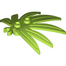 LEGO Lime Plant Leaves 6 x 5 Swordleaf with Clip (Open 'O' Clip) (10884)