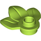 LEGO Lime Plate 1 x 1 with 3 Plant Leaves (32607)