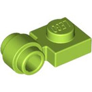 LEGO Lime Plate 1 x 1 with Clip (Thick Ring) (4081)
