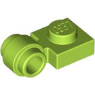 LEGO Lime Plate 1 x 1 with Clip (Thick Ring) (4081 / 41632)
