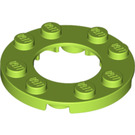 LEGO Lime Plate 4 x 4 Round with Cutout (11833 / 28620)