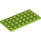 LEGO Lime Plate 4 x 8 (3035)