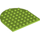 LEGO Lime Plate 8 x 8 1/2 Circle (41948)