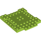 LEGO Lime Plate 8 x 8 x 6 with Cutouts and Ledge (15624)
