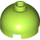 LEGO Lime Round Brick 2 x 2 with Dome Top (Blocked Open Stud with Bottom Axle Holder x Shape + Orientation) (30367)
