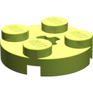 LEGO Lime Round Plate 2 x 2 with Axle Hole (with '+' Axle Hole) (4032)