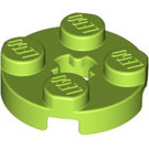 LEGO Lime Round Plate 2 x 2 with Axle Hole (with 'X' Axle Hole) (4032)
