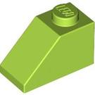 LEGO Lime Slope 1 x 2 (45°) (3040)