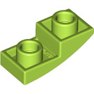 LEGO Lime Slope 1 x 2 Curved Inverted (24201)