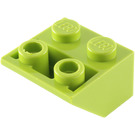 LEGO Lime Slope 2 x 2 (45°) Inverted (3660)