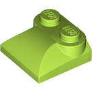 LEGO Lime Slope 2 x 2 Curved with Curved End (47457)