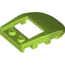 LEGO Lime Slope 3 x 4 x 0.667 Curved with 2 x 2 Cutout (50948)