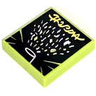 LEGO Lime Tile 2 x 2 with Confetti Cannon with Groove (75463)