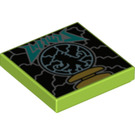 LEGO Lime Tile 2 x 2 with Electricity with Groove (75392)