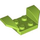 LEGO Lime Wheel Arch 2 x 4 (41854)