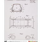 LEGO Limited Edition Print – Page from German Patent Application for Toy Car, 1963 (5006006)