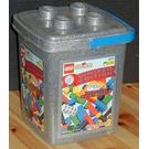 LEGO Limited Edition Silver Brick Bucket Set 3025