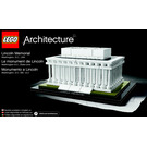 LEGO Lincoln Memorial Set 21022 Instructions