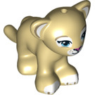 LEGO Lion Cub with White Paws and Dark Pink Nose (17434)