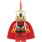 LEGO Lion King with Chrome Gold Crown, Red Plume and Red Cape (Lego Chess King) Minifigure