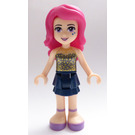 LEGO Livi with Dark Blue Layered Skirt and Gold Sequined Halter Top Minifigure