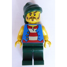 LEGO Loot Island Pirate with Blue Vest Minifigure