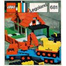 LEGO Low loader with 4 wheel excavator Set 681