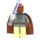 LEGO Mace Windu Minifigure with Light-Up Lightsaber