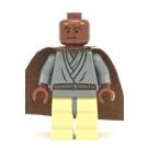 LEGO Mace Windu Minifigure with Non-Light-Up Lightsaber